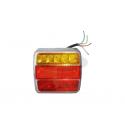 Sdružená svítilna 2-dílná LED, s osv. SPZ, 12V, 110x98 mm, ALMJH113